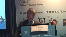 I am presenting the new method of Argus II bionic eye implantation (Endoscope-assissted)  in 2 patients, which is the first in the World, at the 16th EURETINA-2016 Congress held in Cophenhagen